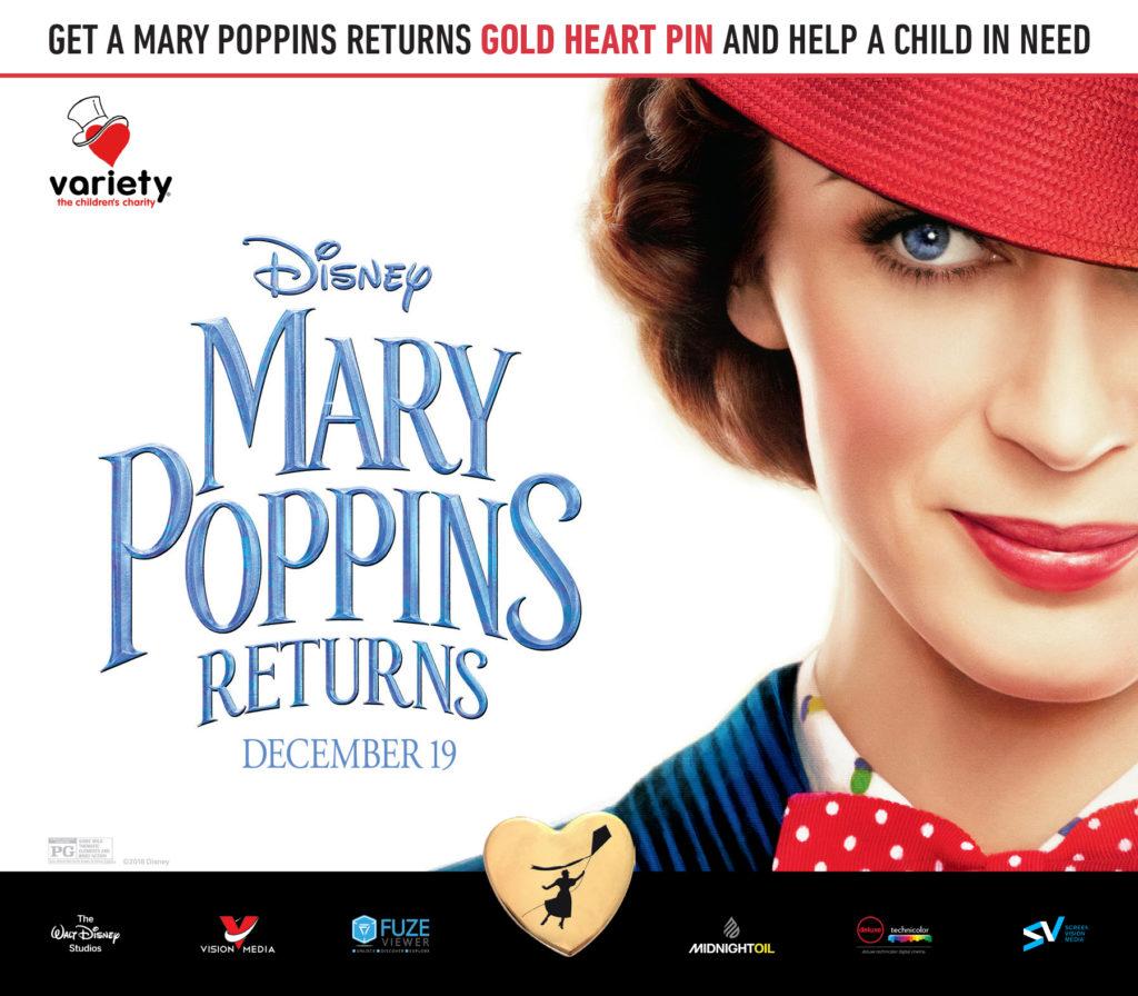 Mary Poppins Variety Pin