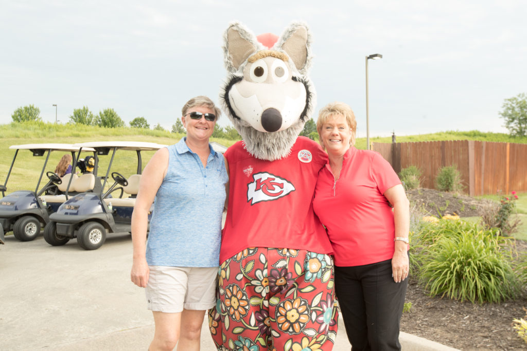 KC Wolf with tournament attendees