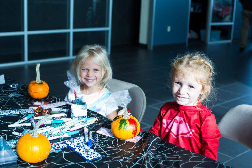 Variety KC Kids at Gary Crossley Ford Pumpkin Painting