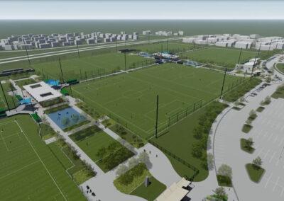 First Outdoor Power Soccer Field